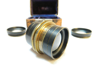 Vade Mecum Brass German Antique Lens