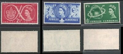 1957 World Scout Jubilee Jamboree SG 557 to 559 MM(2)