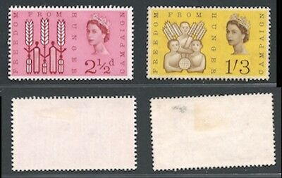 1963 Freedom from Hunger, SG 634 to 635 MM(2)