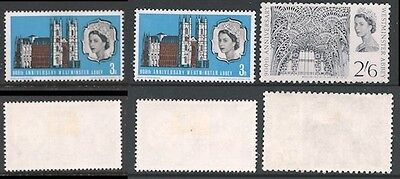 1966 900th Anniversary of Westminster Abbey, SG 687, 687p and 688 MM(2)