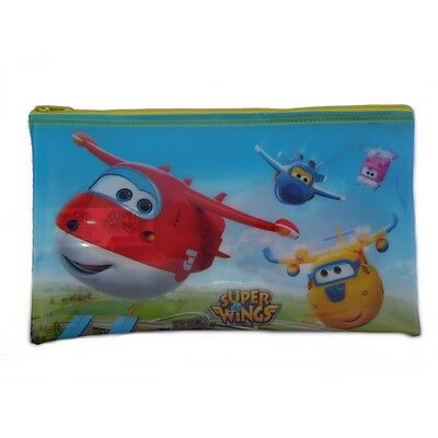 Trousse enfant Super Wings Disney 25 x 15 toilette jaune
