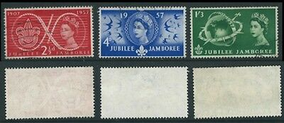 1957 Set from World Scout Jubilee Jamboree SG557 to SG 559 Used