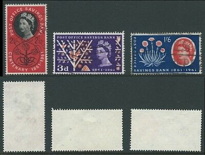 1961 Set from Centenary of Post Office Savings Bank SG 623A to SG 625A Used