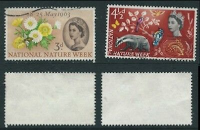 1963 Set from National Nature Week SG 637 to SG 638 Used
