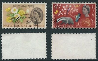 1963 Set from National Nature Week SG 637p to SG 638p Used