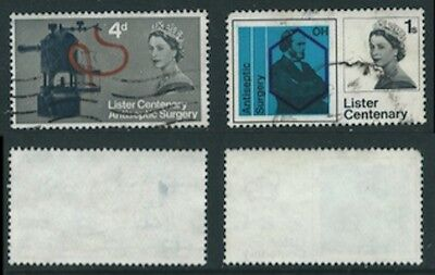 1965 Set from Centenary of Discovey of Antiseptic SG 667 to SG 668 Used