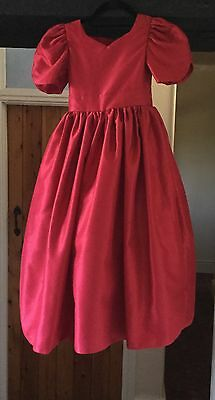 Girl's Red Bridesmaid/flower Girl/party Dress - Age 5-6 Years