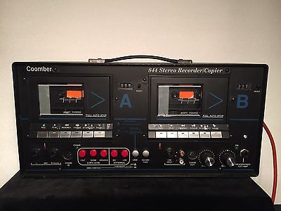 Coomber 844 Stereo Cassette/tape Recorder/copier Read Description.