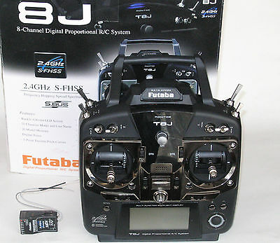 Futaba T8J 8ch S-FHSS transmitter (8J) and R2008SB receiver combo
