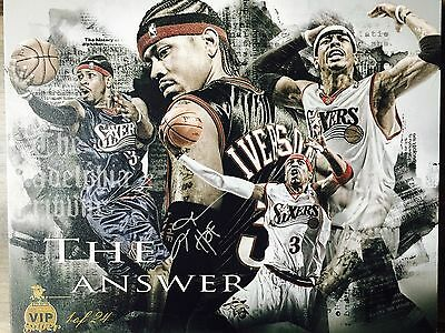 ALLEN IVERSON Signed 16 x 20 HOF Lithograph Panini Super VIP Party ONLY 24 RARE!