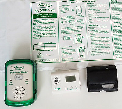 "SMART CAREGIVER WMBR1-SYS Wireless Monitor, 10""x30"" Bed Sensor Pad and LCD Pager"