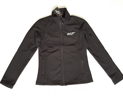 JAMES BOND 007 RARE WOMEN'S Fleece Lined Soft Shell Jacket Black size SMALL NEW