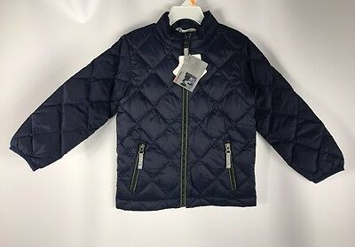 Hanna Andersson Warm Up in Down Jacket Ultra Light Navy NWT size 100 3-4