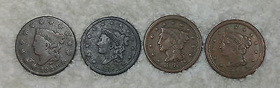 Large cents 1820 small date!, 1838, 1848, 1850 - free shipping
