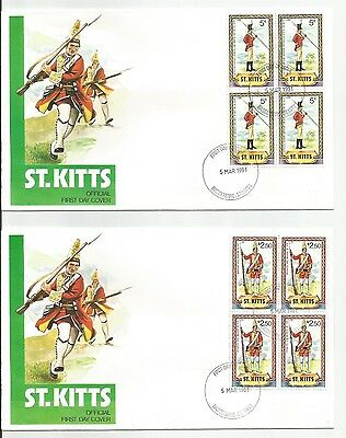 St Kitts Fdc Soldiers 1981