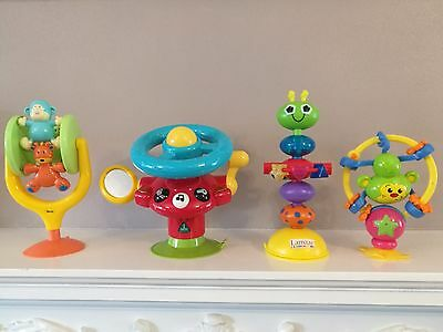 Bundle 4 Baby Suction Cup Highchair Activity Toys ELC Wheel Fisher Price Lamaze