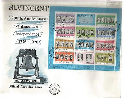 St Kitts Fdc Independence 1975