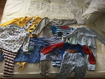 boys bundle of pjs and babygrows age 12/18 and 18/24 gc
