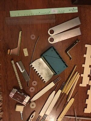 Job Lot Of Knitting Machine Parts And Accessories