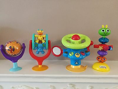 Bundle 4 Baby Suction Cup Highchair Activity Toys ELC Wheel * Lamaze Mothercare