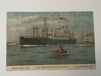 United States Lines - S. S. President Roosevelt - U.S. Government Ship 1928