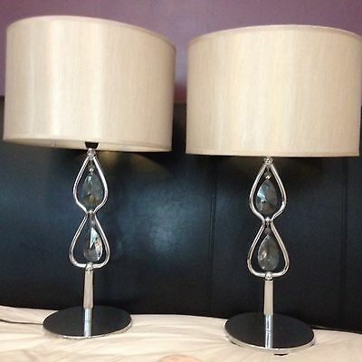 Large Table Lamps with Lampshades  X2