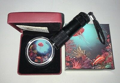 2oz Pure Silver Glow-in-the-dark Illuminated Coral Reef Sold Out Coin RCM Canada