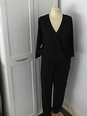 Lovely Ladies Black Maternity Jumpsuit From Papaya At Matalan - Size 16 - BNWT