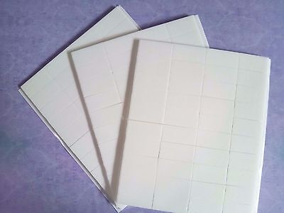 12x25x2mm White DOUBLE SIDED FOAM STICKY PADS Card making Scrapbooking Craft