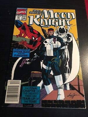 Marc Spector:Moon Knight#21 Incredible Condition 9.2(1990) Punisher,Spider-Man!!