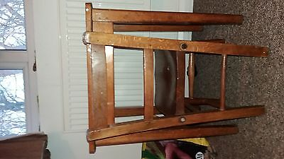 children's wooden school desk with lid and chair