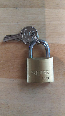 30mm Brass Padlock Made By Henry Squire & Sons 10yr Guarantee