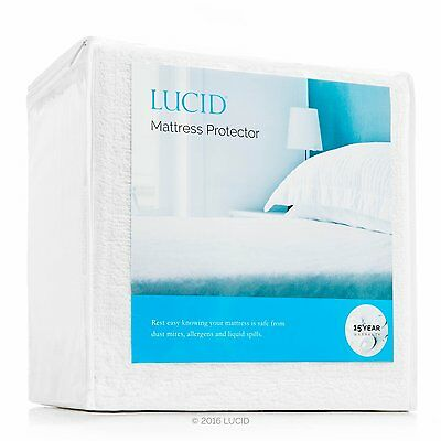 Mattress Pad Protector 100% Cotton Waterproof Bed Cover King Size Fit Sheet New