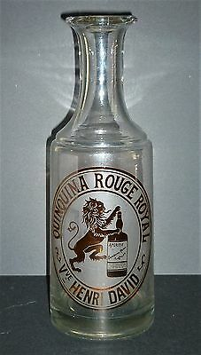 Ancienne carafe publicitaire « QUINQUINA ROUGE ROYAL » vers1900