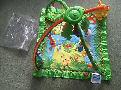 Fisher Price Rainforest Gym Baby Mat Toy - Lights And Sounds