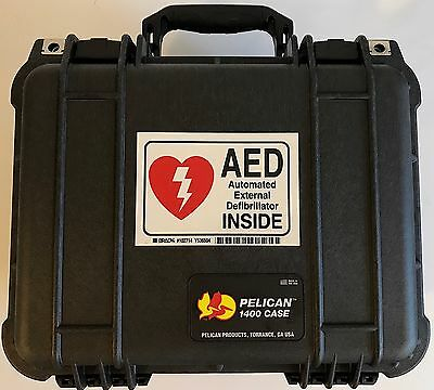 Philips FR2+ Heartstart Defibrillator AED w/ Case, Battery, Pads 2 yr Warranty
