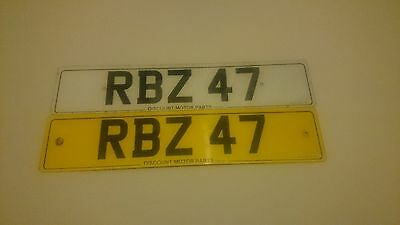 Private number plate RBZ 47