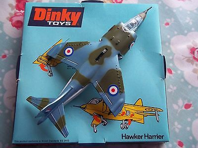 Dinky 722 Hawker Harrier 1971 Excellent Condition in Original Bubble Box