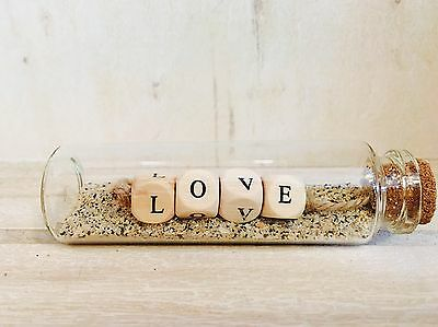 Little Message In A Bottle, Love, Gift, Shabby Chic, Ornament