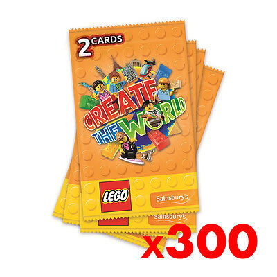 LEGO Create The World OFFICIAL collectors ALBUM, SAINSBURYS Cards *Brand New*