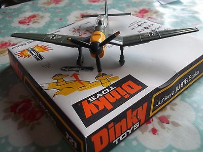 Dinky 721 Junkers Ju87B Stuka, 1971 Excellent Condition in Original Bubble Box