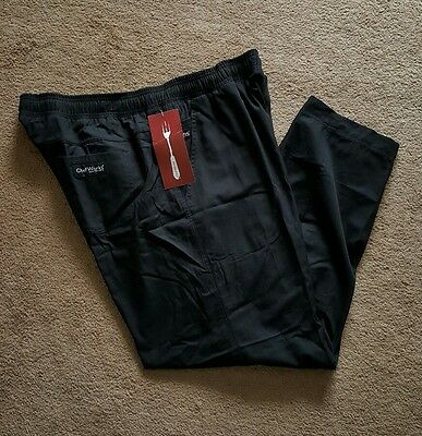 Chef Works Professional  Chef Pants BSOL Black  Size 2XL New !!!!