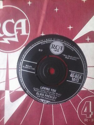 Elvis Presley Loving You 7 Inch With Rca Sleeve