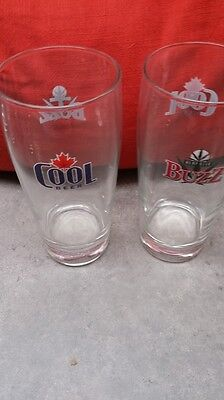 Set Of 2 Canadian Micro Brewery Beer Glasses - Buzz Beer From Cool Brewery