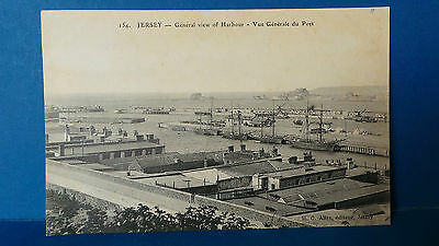 Jersey Channel Islands Postcard St Helier Harbour + Ships c1905 HG Allix No154