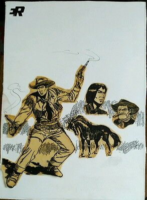 ILUSTRACION ORIGINAL PORTADILLA COMIC -  COMIC BOOK COVER ARTWORK - Mendoza Colt