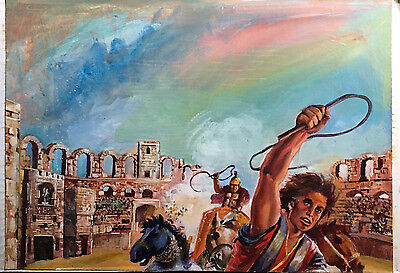 1 ILUSTRACION ORIGINAL PORTADA LIBRO -  BOOK COVER ARTWORK - Ben Hur