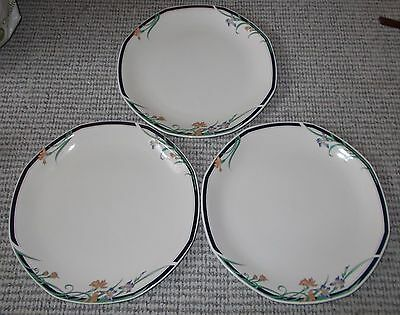 """Royal Doulton Juno 10.5"""" Dinner Plates x 3 In Very Good Condition"""