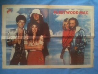 Fleetwood Mac Double Page Spread Centre Picture From A 1979 Music Newspaper