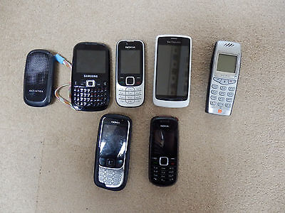 Selection Of Seven Old Mobile Phones For Sale